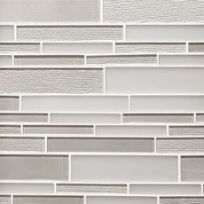 Glacier Gray Linear Glass Mosaic
