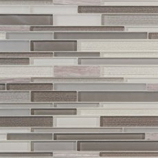 Glam Greige Linear Glass Mosaic
