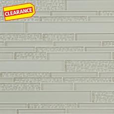 Clearance! Sea Salt Textured Linear Glass Mosaic