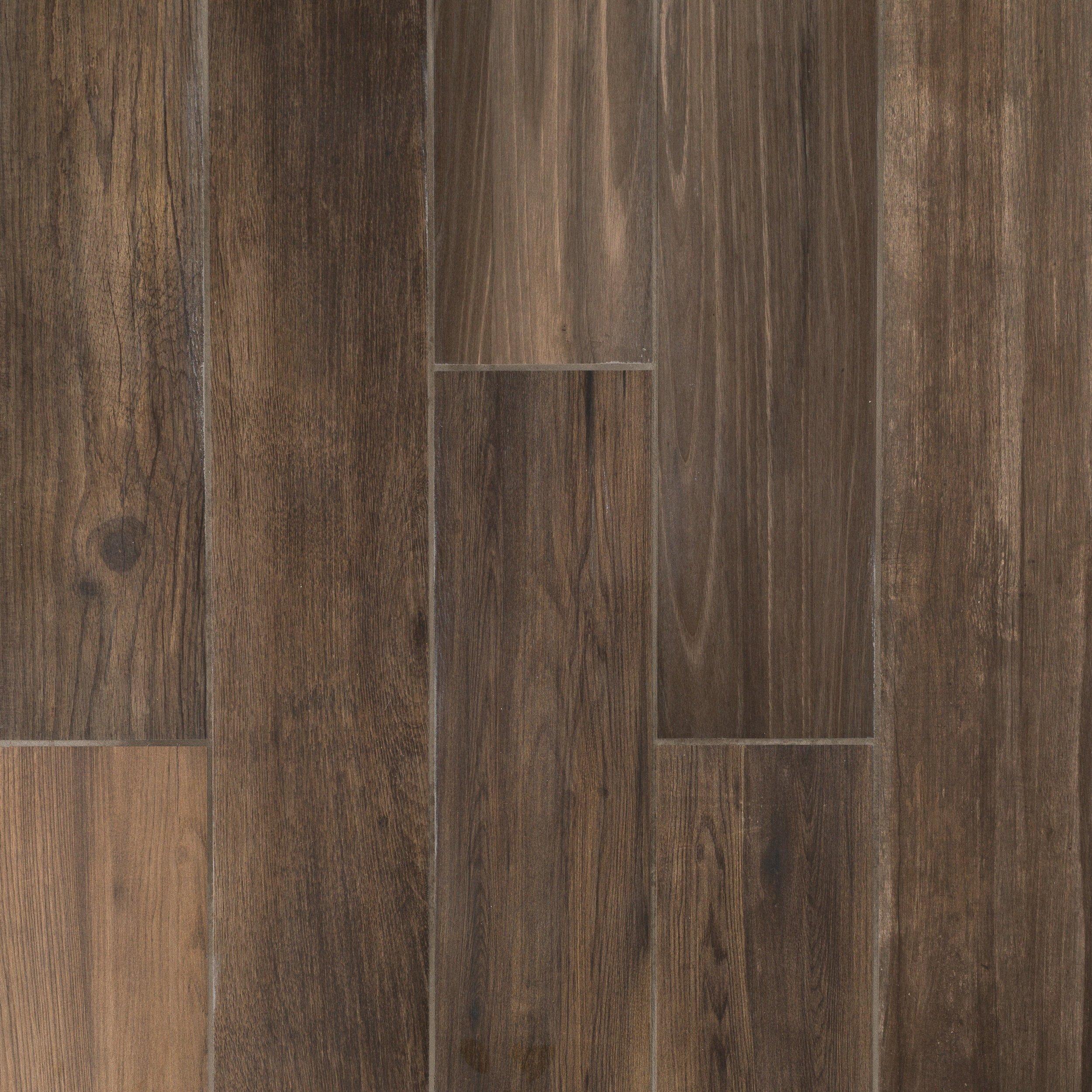 Ridgewood Espresso Wood Plank Porcelain Tile 6 X 36
