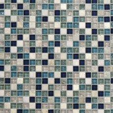 Blue Ocean Mix II Glass Mosaic