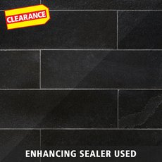 Clearance! Black Brushed Limestone Tile