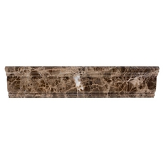 Dark Emperador Marble Chair Rail