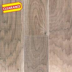 Clearance! Gray Walnut Hand Scraped Wire Brushed Engineered Hardwood