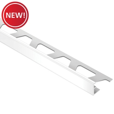 New! Schluter-Jolly Edge Trim 3/8in. In Bright White Color-Coated Aluminum