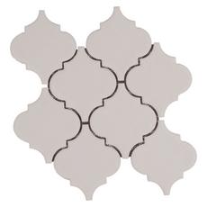 Villa Heirloom Linen Arabesque Porcelain Mosaic 10in X