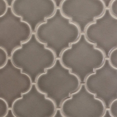 Villa Heirloom Pewter Arabesque Porcelain Mosaic 10in X