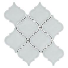 Villa Heirloom Aqua Arabesque Porcelain Mosaic