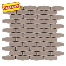 Clearance! Clay Elongated Hexagon Porcelain Mosaic