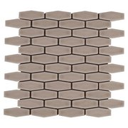 Clay Elongated Hexagon Porcelain Mosaic