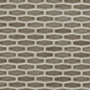 Pewter Elongated Hexagon Porcelain Mosaic