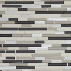 Cascades Polished Linear Glass and Metal Mosaic