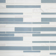 Biscayne Linear Polished Glass Mosaic