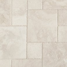 Cascade White Brushed Chiseled Travertine Tile