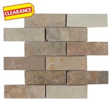 Clearance! Autumn Brick Slate Mosaic
