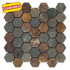 Clearance! Multicolor Hexagon Slate Mosaic