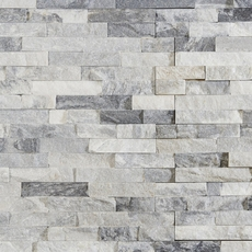 Harbor Gray Splitface Quartzite Panel Ledger 6 X 24