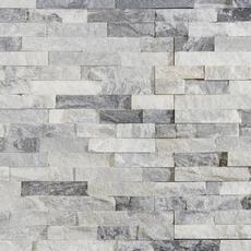 Harbor Gray Splitface Quartzite Panel Ledger 6 X 24