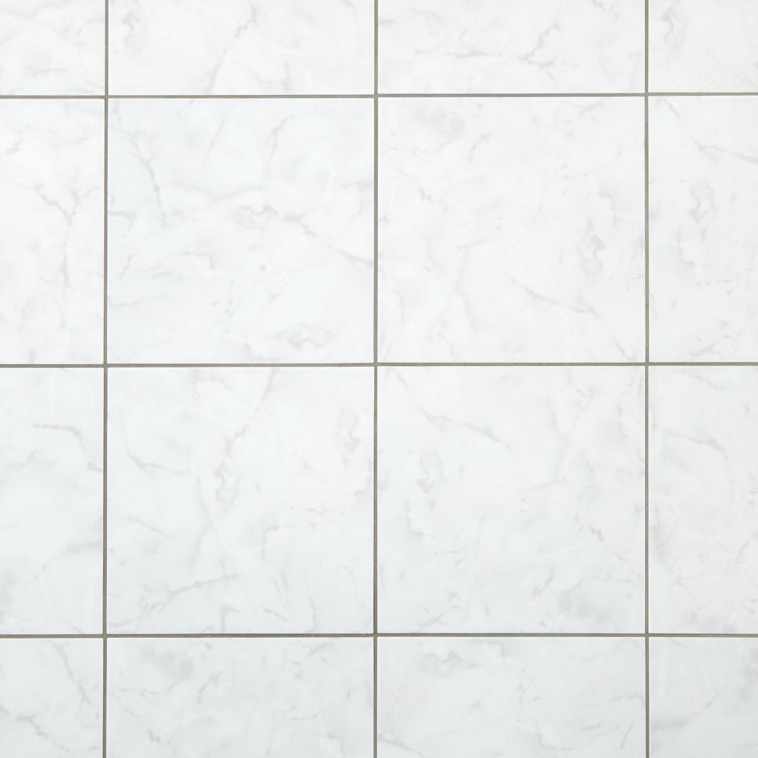 Carrara White Polished Ceramic Tile X Floor - 13x13 white ceramic floor tile
