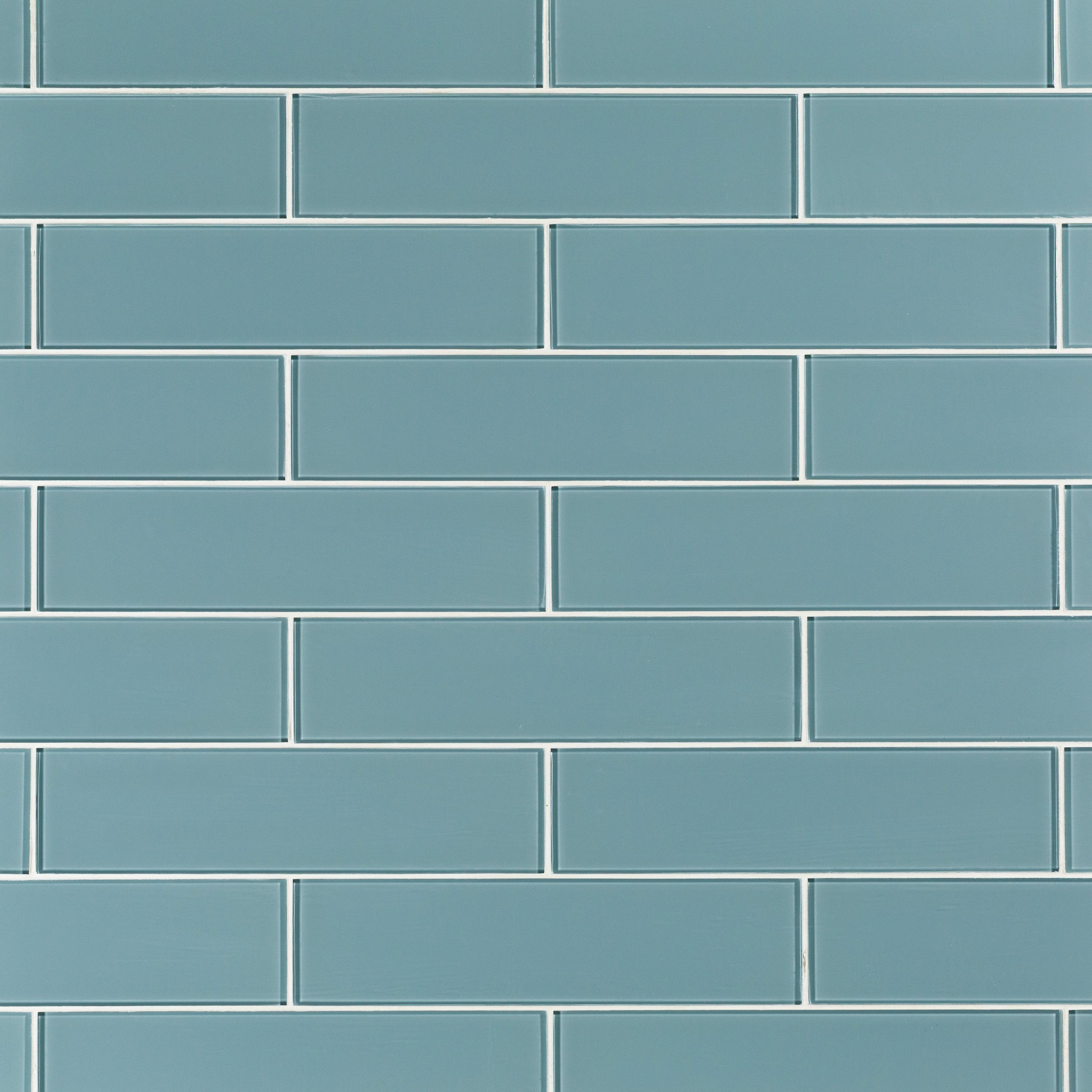 Spa Blue Glass Tile - 4 x 16 - 100465780 | Floor and Decor