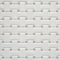 Matte Gray Dot Basket Weave Porcelain Mosaic