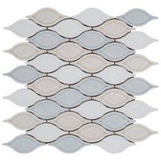 Blue Blend Tear Drop Porcelain Mosaic