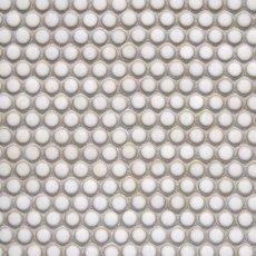 Glazed White Penny Porcelain Mosaic