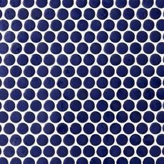 Navy Blue Penny Porcelain Mosaic