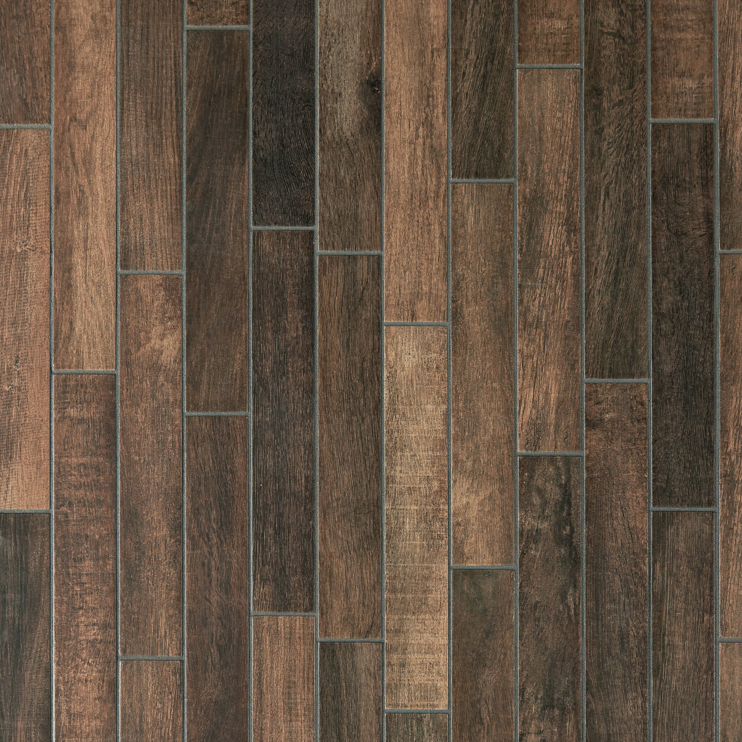 Porcelain Tile Wood Plank: Wood Art Midnight Wood Plank Porcelain Tile