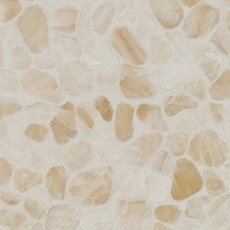 Onyx Honed Flat Pebblestone Mosaic