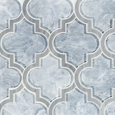Vogue Arabesque Water Jet Cut Glass Mosaic