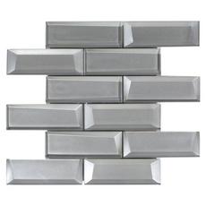 Broadway Silver Brick Glass Mosaic