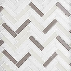 Sandhill Herringbone Glass Mosaic