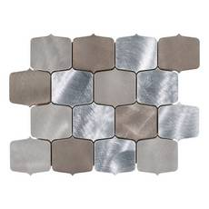 Dune Geo Brushed Metallic Mosaic