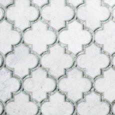 Electra Bianco Waterjet Marble Mosaic
