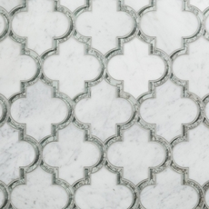 Electra Carrmirror Water Jet Cut Marble Mosaic Floor And Decor