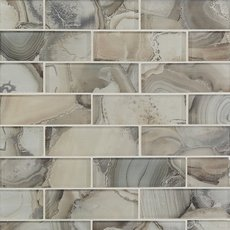 Abaco 2 x 6 in. Brick Glass Mosaic