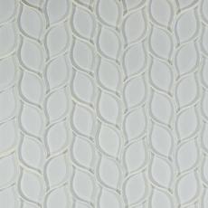 Montage Winter Cloud Leaf Polished Glass Mosaic