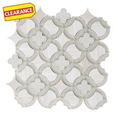 Clearance! Valentino Quatrefoil Waterjet Glass Mosaic