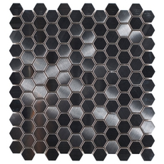 Montage Stainless Steel Hexagon Brushed Metal Mosaic