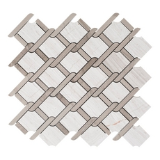 Valentino Lattice Water Jet Cut Marble Mosaic