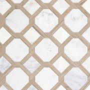 Carrara Lattice Marble Mosaic