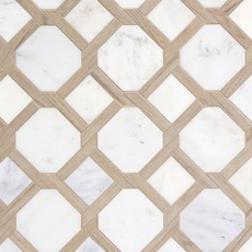 Carrara Lattice Marble Mosaic
