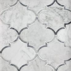 Provence Carrara Water Jet Cut Marble Mosaic 12in X