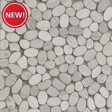 New! Valentino White Flat Pebble Mosaic