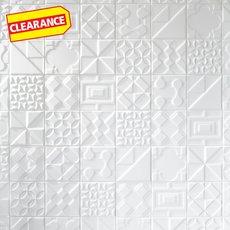 Clearance! Heritage Meringue Decorative Ceramic Tile
