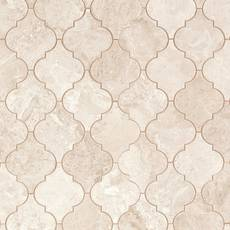 Crema Royal Arabesque Marble Mosaic