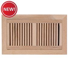 New! Red Oak Flush Mount Unfinished Floor Register
