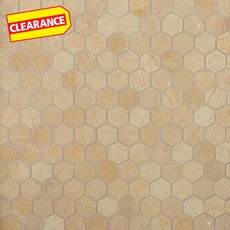Clearance! Jerusalem Gold Hexagon Limestone Mosaic