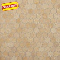 Clearance! Jerusalem Gold Hexagon Limestone Mosaic